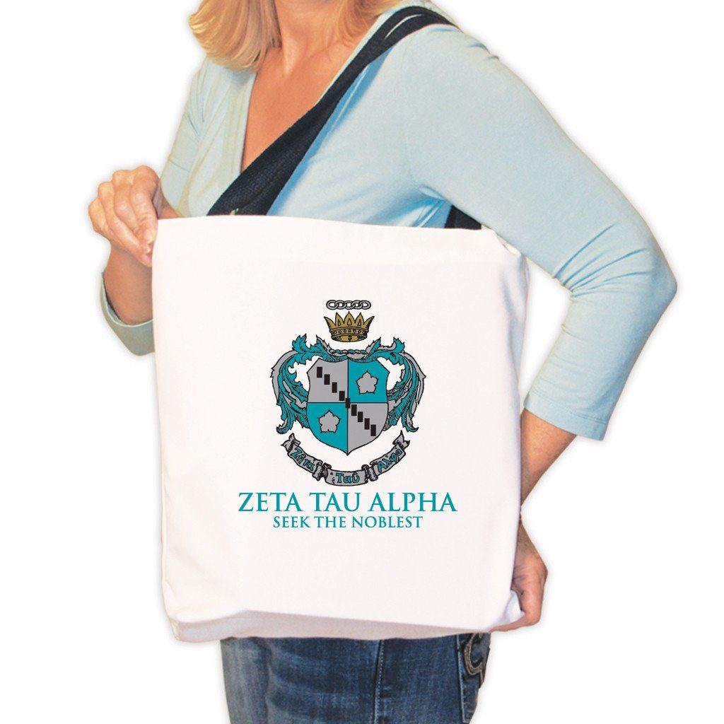 Zeta Tau Alpha Canvas Tote Bag - Crest Design