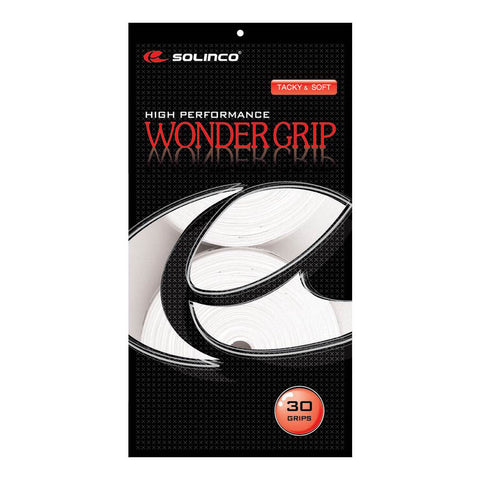 SOLINCO WONDER GRIP 30 PACK WHITE OVERGRIP