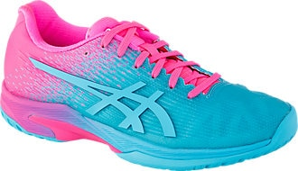 ASICS SOLUTION SPEED FF L.E. AQUARIUM/HOT PINK WOMEN'S TENNIS SHOE