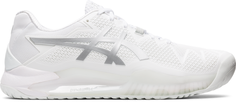 ASICS GEL RESOLUTION 8 WHITE/PURE SILVER MEN'S TENNIS SHOE