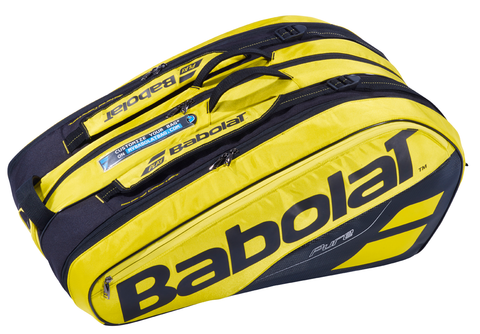 BABOLAT PURE 12 PACK YELLOW/BLACK RACKET BAG