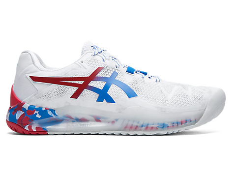 ASICS GEL RESOLUTION 8 LE TOKYO WHITE/ELECTRIC BLUE MEN'S TENNIS SHOE