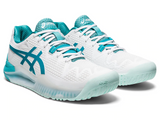 ASICS GEL RESOLUTION 8 WHITE/LAGOON WOMEN'S TENNIS SHOE
