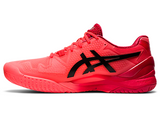 ASICS GEL RESOLUTION 8 SUNRISE RED/ECLIPSE BLACK MEN'S TENNIS SHOE