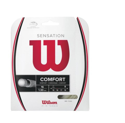 WILSON SENSATION 16 (1.30MM) TENNIS STRING 40'/12.2M (1 SET)