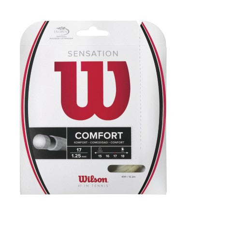 WILSON SENSATION 17 (1.25MM) TENNIS STRING 40'/12.2M (1 SET)