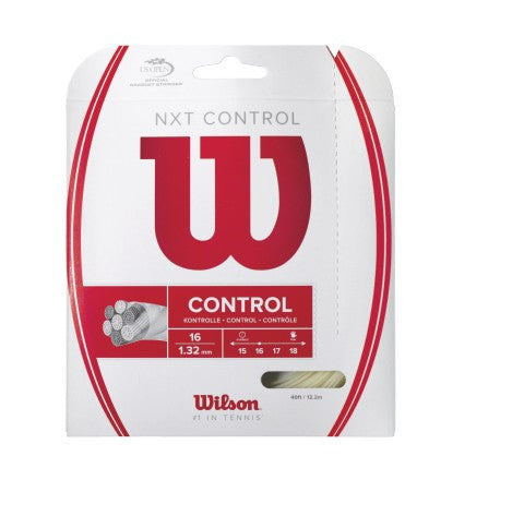 WILSON NXT CONTROL 16 (1.32MM) TENNIS STRING 40'/12.2M (1 SET)