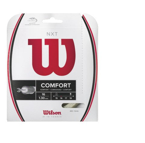 WILSON NXT 16 NATURAL (1.30MM) TENNIS STRING 40'/12.2M (1 SET)