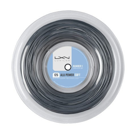 LUXILON BIG BANGER ALU POWER SOFT SILVER 16L (1.25MM) TENNIS STRING 720'/220M REEL