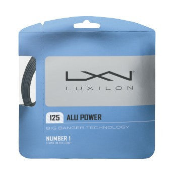LUXILON BIG BANGER ALU POWER SILVER 16L (1.25MM) TENNIS STRING 40'/12.2M (1 SET)