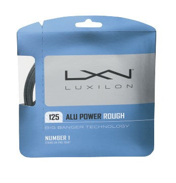 LUXILON BIG BANGER ALU POWER ROUGH SILVER 16L (1.25MM) TENNIS STRING 40'/12.2M (1 SET)