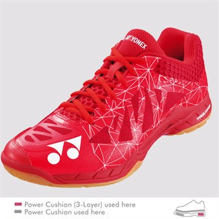 YONEX POWER CUSHION AERUS 2 RED MEN'S BADMINTON SHOE