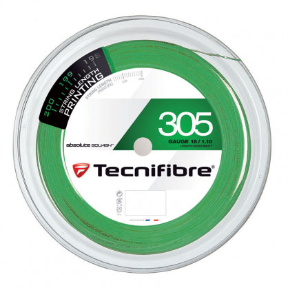 TECHNIFIBRE 305 GREEN SQUASH STRING 660'/200M REEL