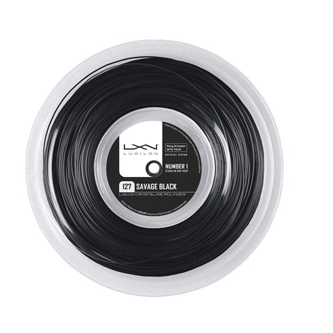 LUXILON SAVAGE BLACK 16L (1.27MM) TENNIS STRING 660'/200M REEL