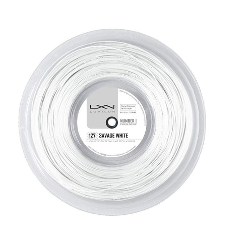 LUXILON SAVAGE WHITE 16L (1.27MM) TENNIS STRING 660'/200M REEL