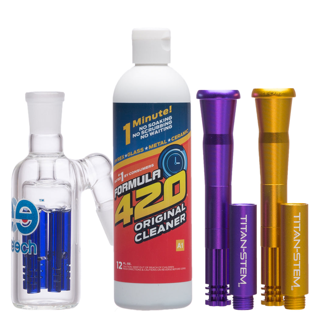 downstems, glass cleaner and more supplies