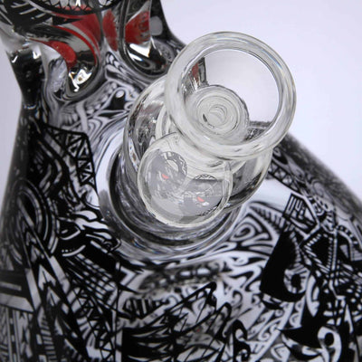 Cheech Glass Tribal Beaker Bong