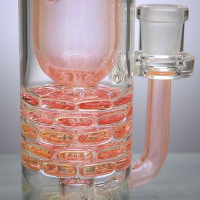 Leisure Glass Fumed Brick Stack Incycler Dab Rig