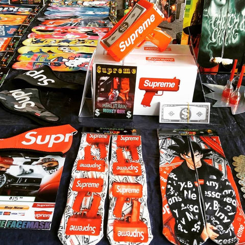 LV Supreme money gun socks with facemask party gifts