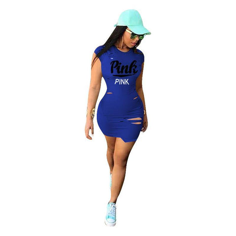 Love Pink Love Pink tight fitted club Dresses Love Pink Love Pink tight fitted club Dresses Love Pink Victorias Secret Dress Urban Fashion Hip Hop Wear Red Blue Black