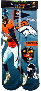One stop shop 420 & Trends Denver Broncos  NFL fathead football socks Denver Broncos  NFL fathead football Socks