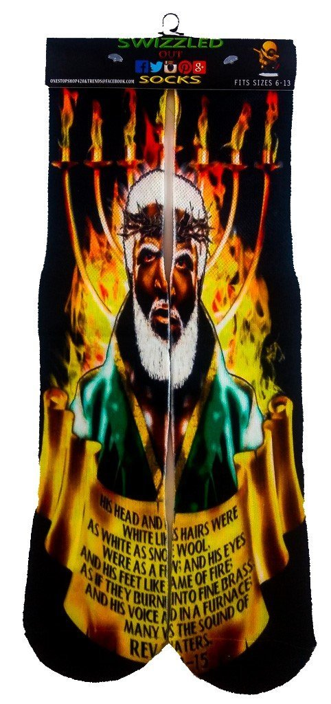 Hebrew Black Jesus Christ fashion Socks - One stop shop 420 & Trends