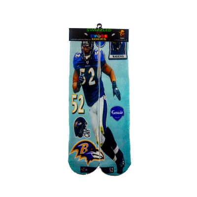 One stop shop 420 & Trends NFL Football Baltimore Ravens Ray Lewis socks