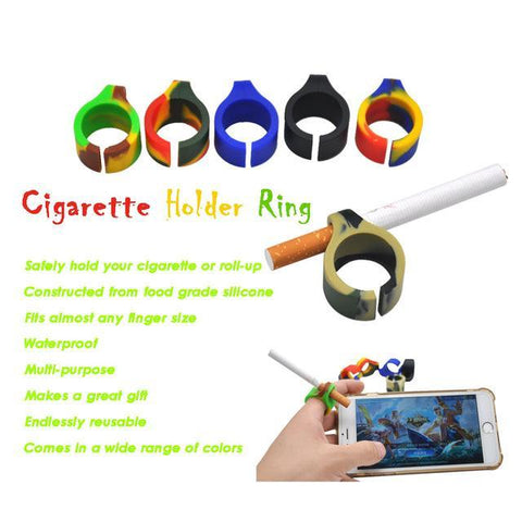 Silicone Smoking Holder Ringholder/Tobacco/Joint Holder Ring For regular size (7-8mm) Cigarette Smoking Ring.