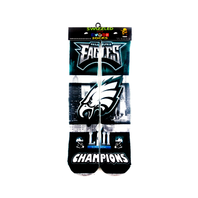SWIZZLED OUT SOCKS SOCK 1 Philadelphia Eagles Superbowl Champions Socks