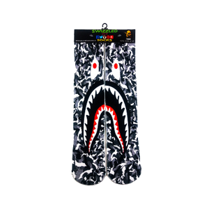 SWIZZLED OUT SOCKS SOCK A Bathing Ape (Bape) Shark Mouth Socks