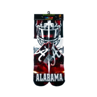 SWIZZLED OUT SOCKS SOCK Alabama Crimson Tide college football player hands football socks
