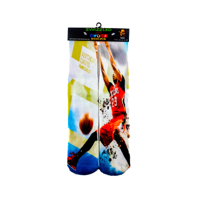 SWIZZLED OUT SOCKS SOCK Anthony Davis # 23  New Orleans Pelicans Basketball Socks