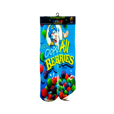SWIZZLED OUT SOCKS SOCK Cap'n Crunch Oops All Berries Cereal Socks