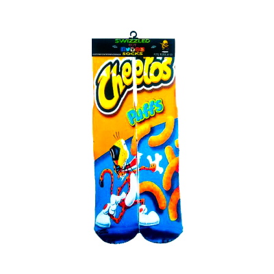 SWIZZLED OUT SOCKS SOCK Cheetos Puffs White Cheddar Cheese Flavoredsnack chips socks
