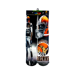 SWIZZLED OUT SOCKS SOCK Cleveland Browns Football Socks