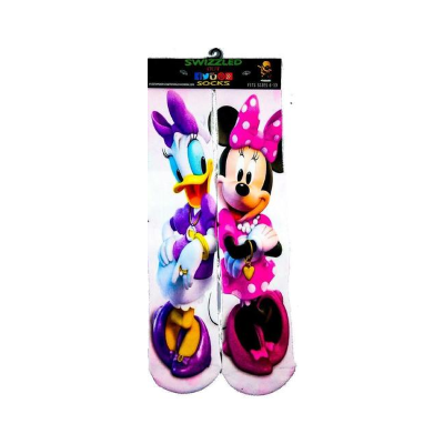 SWIZZLED OUT SOCKS SOCK Daisy and Minnie Mouse Socks