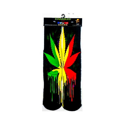 SWIZZLED OUT SOCKS SOCK Dripping Rasta Colors Socks