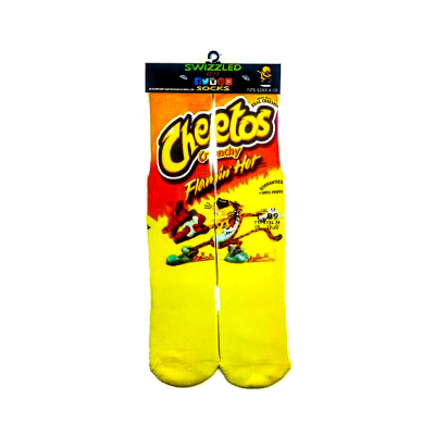 SWIZZLED OUT SOCKS SOCK Flamin Hot Crunchy Cheetos Socks