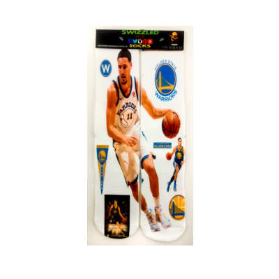 SWIZZLED OUT SOCKS SOCK Golden State Warriors Clay Thompson Basketball Sock