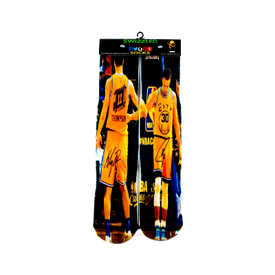 SWIZZLED OUT SOCKS SOCK Golden State Warriors Stephen Curry Basketball Socks