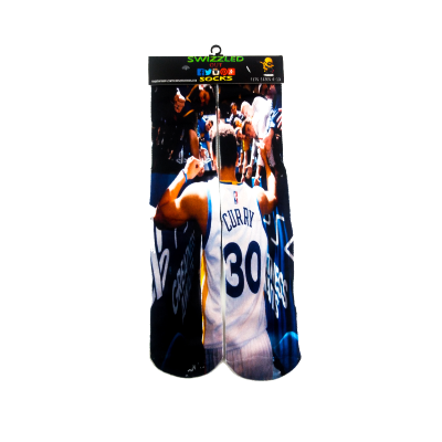 SWIZZLED OUT SOCKS SOCK Golden State Warriors Stephen Curry Jersey Basketball Socks