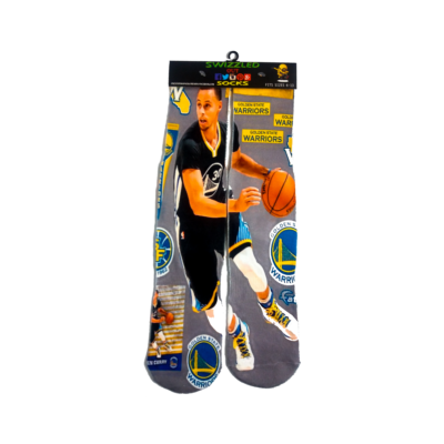 SWIZZLED OUT SOCKS SOCK Grey Black Gold #30 Stephen Curry Golden St. Warriors Sock
