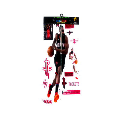SWIZZLED OUT SOCKS SOCK Houston Rockets James Harden basketball sock