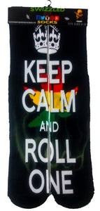 SWIZZLED OUT SOCKS SOCK Keep Calm and Roll one Socks