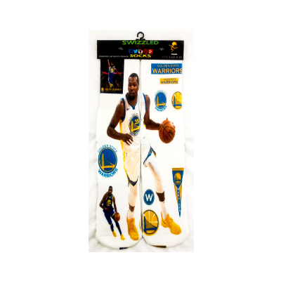 SWIZZLED OUT SOCKS SOCK Kevin Durant Golden State Warriors Socks