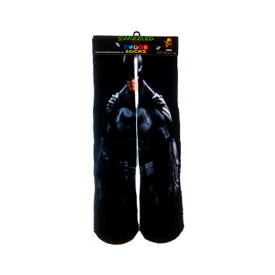 SWIZZLED OUT SOCKS SOCK Marvel DC Comics Gotham City  Batman The Dark Knight Animation Sock