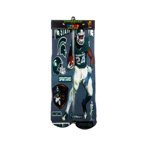 SWIZZLED OUT SOCKS SOCK Michigan State Spartans Socks