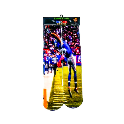 SWIZZLED OUT SOCKS SOCK New York Giants # 13 Wide Reciever Odell Beckham Jr. Socks