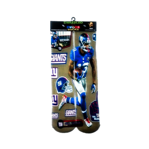SWIZZLED OUT SOCKS SOCK New York Giants Superstar wide reciever Odell Beckham Jr. NFL football Socks