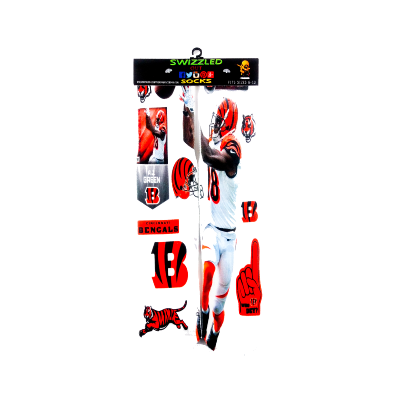 SWIZZLED OUT SOCKS SOCK NFL football Cincinnati Bengals Wide Reciever AJ Green Socks